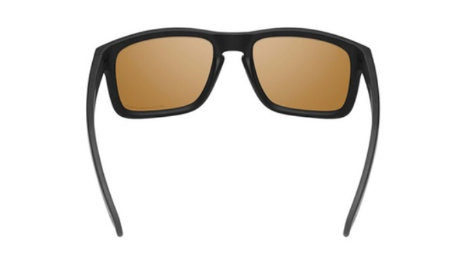 da59782cf1 Oakley Holbrook Unisex Sunglasses with Matte Black Frame and Bronze  Polarized Lenses - Ships Same