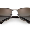 Ray-Ban Gunmetal Metal  Polarized Brown Gradient Sunglasses (RB3498 029/T5 61) - Ships Same/Next Day!