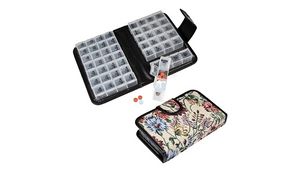 14 Day Pill & Vitamin Organizer 2 Weeks AM/PM 4 Doses a Day Travel Case Handy and Portable  - Ships Same/Next Day!