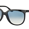 Ray-Ban Cats 1000 Shiny Black Frame Blue Gradient Sunglasses (RB4126 601/3F 57MM) - Ships Same/Next Day!