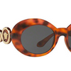 Versace Havana Oval Medusa Women's Sunglasses (VE4329 521487 53mm) - Ships Same/Next Day!