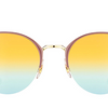 Ray-Ban  Gold Top Dove / Green Gradient Mirror Sunglasses (RB3578 9011A7) - Ships Same/Next Day!