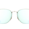 Ray-Ban Blaze Silver / Dark Green Mirror Sunglasses (RB3579N 003/30) - Ships Same/Next Day!