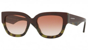 Burberry  Bordeaux Green Havana / Brown Gradient Sunglasses (BE4252 3651/13) - Ships Same/Next Day!