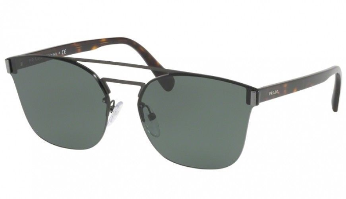 Prada Matte Tortoise / Green Gradient Sunglasses (SPR67T VIX-3O1) - Ships Same/Next Day!