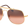 Ray-Ban The General Light Bronze / Pink Gradient Sunglasses (RB 3561 9001A5 57MM) - Ships Same/Next Day!