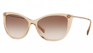Versace  Transparent Light Brown / Brown Sunglasses (VE 4345b 5215/13) - Ships Same/Next Day!