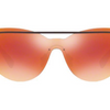 Versace Violet Metal / Fire Orange Shield Sunglasses (VE 2186 1415/6Q) - Ships Same/Next Day!