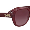 Coach Women's  Burgundy Gradient Plastic Square Sunglasses (HC8207 54508H 57) - Ships Same/Next Day!