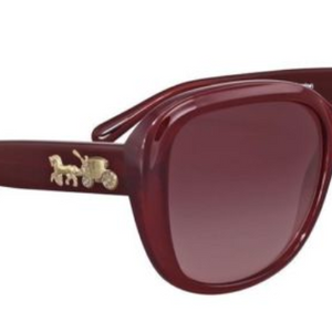 "Coach Women's  Burgundy Gradient Plastic Square Sunglasses (HC8207 54508H 57) - Save $10 W/ Promo Code ""Coach10"" - Ships Same/Next Day!"