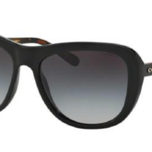 Coach Black Tortoise Frames Gray Lens Sunglasses (HC8202 544211 57MM) - Ships Same/Next Day!