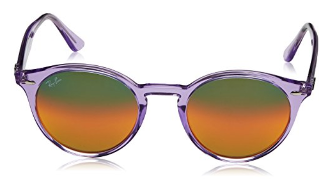 e15d4ccafc86d Ray-Ban Men s Non-Polarized Iridium Shiny Violet Round Sunglasses (RB2180  6280A8 51mm