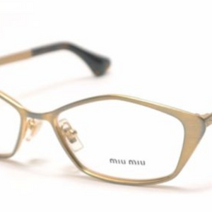 Miu Miu Gold Frames RX-Able Eyeglasses (VMU53L LAF1O1 52MM) - Ships Same/Next Day!