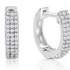 Sterling Silver 1/4 Carat Diamond Hoop Earrings, 1/2 Inch - Ships Same/Next Day!