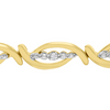 Diamond Accent Flair Bracelet, 7 Inches - Choice of 2 Colors - Ships Same/Next Day!