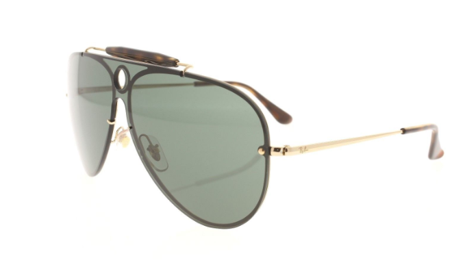 Ray-Ban Shooter Gold / Green Gradient Sunglasses (RB 3581N 001/71 58MM) - Ships Same/Next Day!