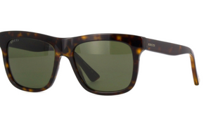 Gucci  Dark Havana Brown / Green Gradient Sunglasses (GG 0158S 002) - Ships Same/Next Day!