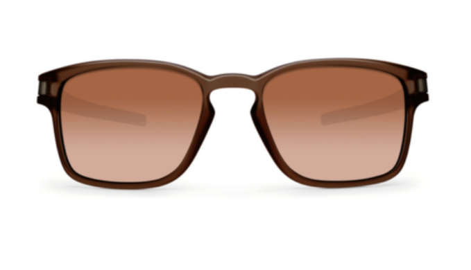 Oakley Latch SQ - Matte Rootbeer Dark Brown Gradient  Sunglasses (OO9353-09) - Ships Same/Next Day!