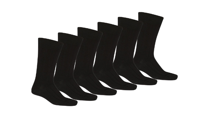 Unibasic Men's Solid Plain Dress Socks (10-13) - Pack of 6, 36 or 96 - Ships Same/Next Day!