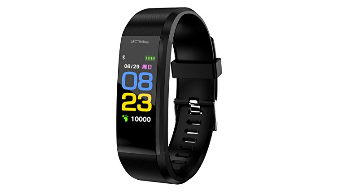 Lectrique Fitness Tracker, Sleep Monitor, Heart Rate Monitor, Pedometer Watch - Ships Same/Next Day!