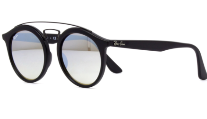 Ray-Ban Unisex Gatsby Black Round Sunglasses (RB4256F 6253B8) - Ships Same/Next Day!