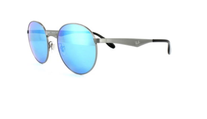 Ray-Ban Polarized Round Metal Sunglasses (RB3537) - Choice of 2 Colors - Ships Same/Next Day!