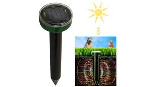 Solar Powered Pest & Rodent Repeller (1 to 4 Pack Options) - Safe, Attractive & Hassle Free - Ships Same/Next Day!