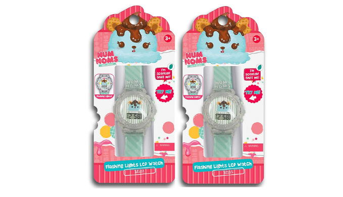 Pack of 2: Num Noms Mint Scented Bracelet -Flashing Lights LCD Watch - Ships Same/Next Day!