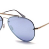 Ray-Ban Blaze Gold Copper / Violet Blue Mirror Sunglasses (RB3584N 90531U) - Ships Same/Next Day!