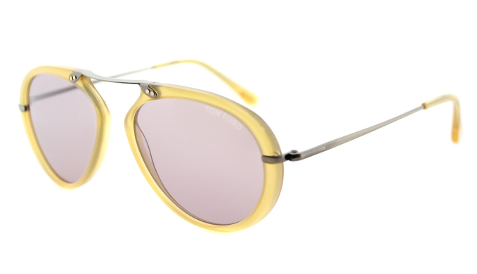 Tom Ford Shiny Yellow Aviator Sunglasses (TF 473 39Y) - Ships Same/Next Day!