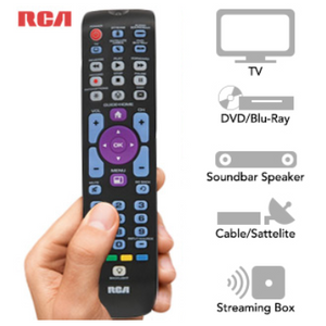RCA 5-Device Universal Remote: Control 5 Devices w/ 1 Remote - Ships Same/Next Day!