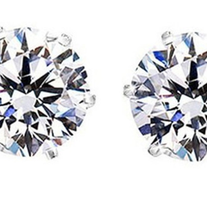 2.00 CTW Crystal Studs with Swarovski Elements in Sterling Silver - Ships Same/Next Day!