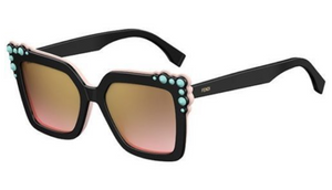 Fendi CAN EYE Black Pink / Brown Shaded Pink Sunglasses - Ships Same/Next Day!