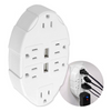 Outlet Multiplier with 2 USB Ports: Say Goodbye to Messy Power Strips - Ships Same/Next Day!
