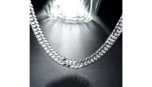 Silver Silver Cuban Figaro Chain Unisex Chain Necklace - Ships Same/Next Day!