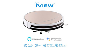 iView WiFi Smart Robot Sweep/Mop Vacuum - Works with Alexa, Google Assistant, Control from Anywhere - Ships Same/Next Day!