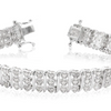 Sterling Silver 1 Carat Diamond Heart Tennis Bracelet, 7 Inches - Ships Same/Next Day!