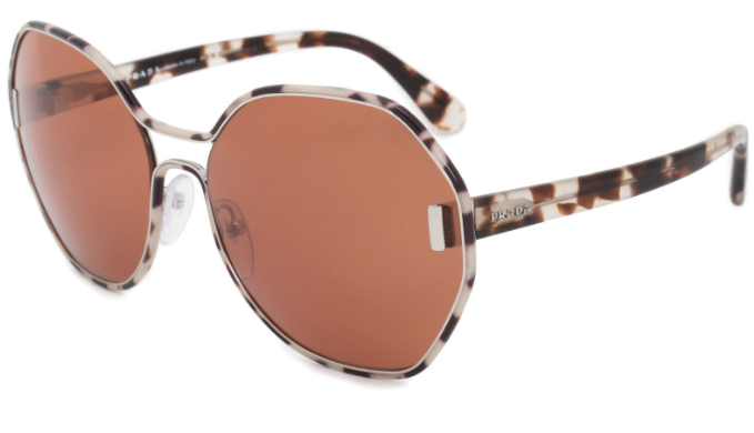 Prada Havana Brown Sunglasses (SPR53T UAO-6N0) - Ships Same/Next Day!