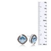 4ct Crystal Aquamarine and Marcasite Earrings - Ships Same/Next Day!
