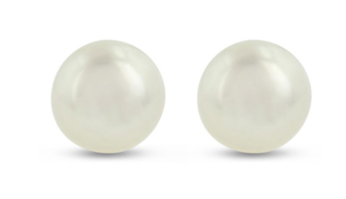 Freshwater Pearl Button Earrings - Ships Same/Next Day!