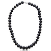 11MM Black Freshwater Cultured Pearl Necklace - Ships Same/Next Day!
