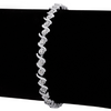 1/3 Carat Diamond S-Type Tennis Bracelet, Platinum Overlay, 7 Inches - Ships Same/Next Day!