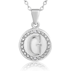 A-Z Initial Diamond Necklace In Sterling Silver, 18 Inches - Ships Same/Next Day!