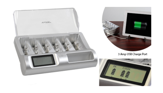 Renu-It Deluxe Battery Charger - Recharge ANY Battery (Assorted Color) - Ships Same/Next Day!
