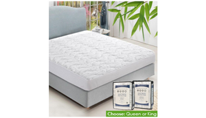 Luxury Bamboo Mattress Protector (King or Queen) - Ships Same/Next Day!