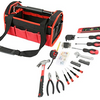 PRICE DROP: Olympia Tools 56-Piece Red & Black Tool Bag Set - Ships Same/Next Day!