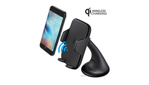 Universal Qi Wireless Charger Car Mount - Charge Wirlessly On The Go - Ships Same/Next Day!