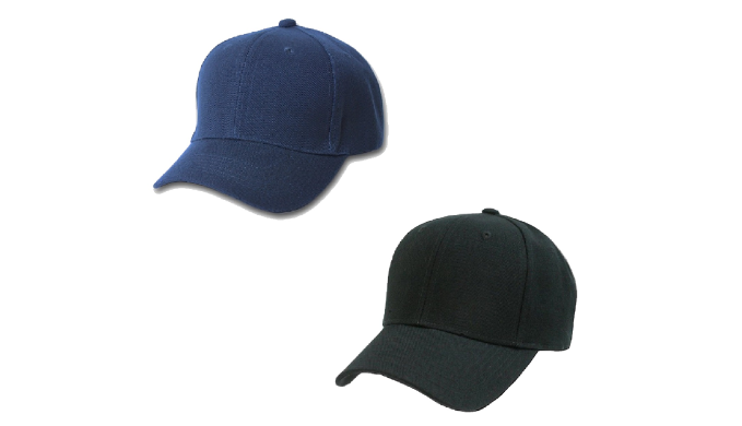 Set of 2 Plain Baseball Cap - Blank Hat with Solid Color and Adjustable (Mix 79e05e70aa6