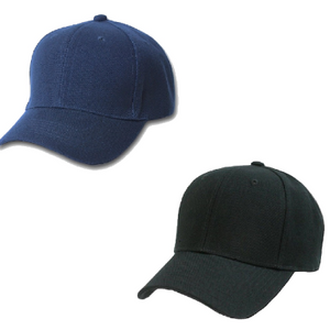 Set of 2 Plain Baseball Cap - Blank Hat with Solid Color and Adjustable (Mix) - Ships Same/Next Day!