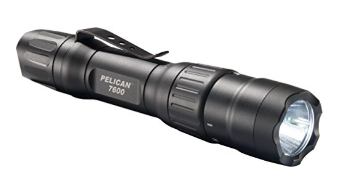 Pelican 7600 Rechargeable Tactical Flashlight (Black) - Ships Same/Next Day!